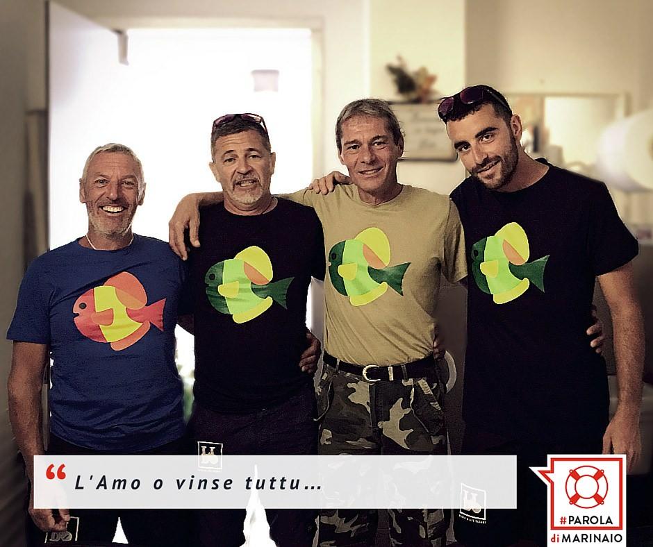 Da sinistra: Maurizio, Giovanni, Alessandro, Fabio Lo staff dei BayWatchers